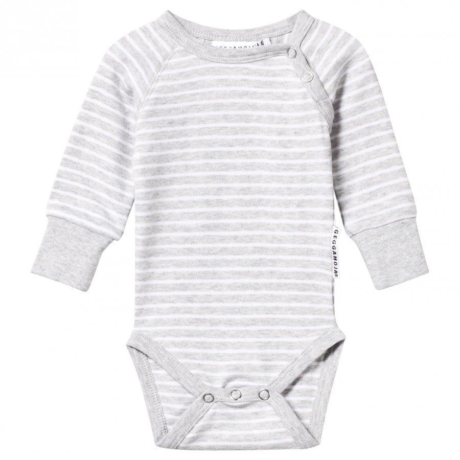 Geggamoja Baby Body Classic Light Grey Mel/White Body