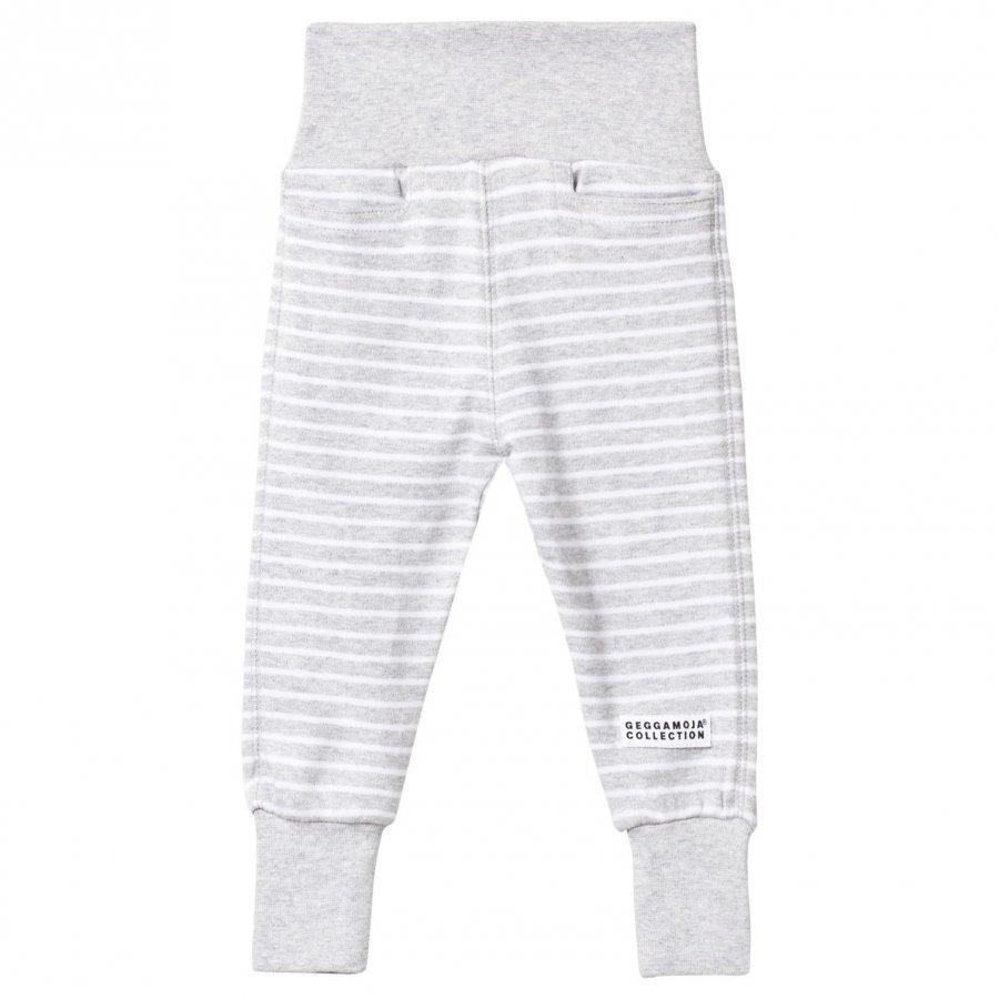 Geggamoja Baby Pants Classic Light Grey Mel/White Verryttelyhousut