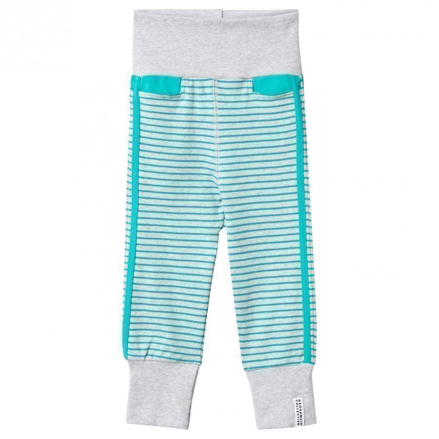 Geggamoja Baby Pants Light Grey Mel/Turquoise Verryttelyhousut