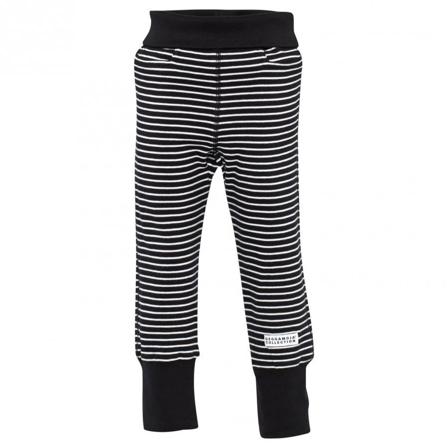 Geggamoja Baby Trousers Classic Black/White Housut