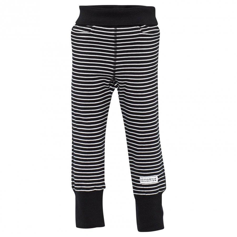 Geggamoja Baby Trousers Classic Black/White Housut