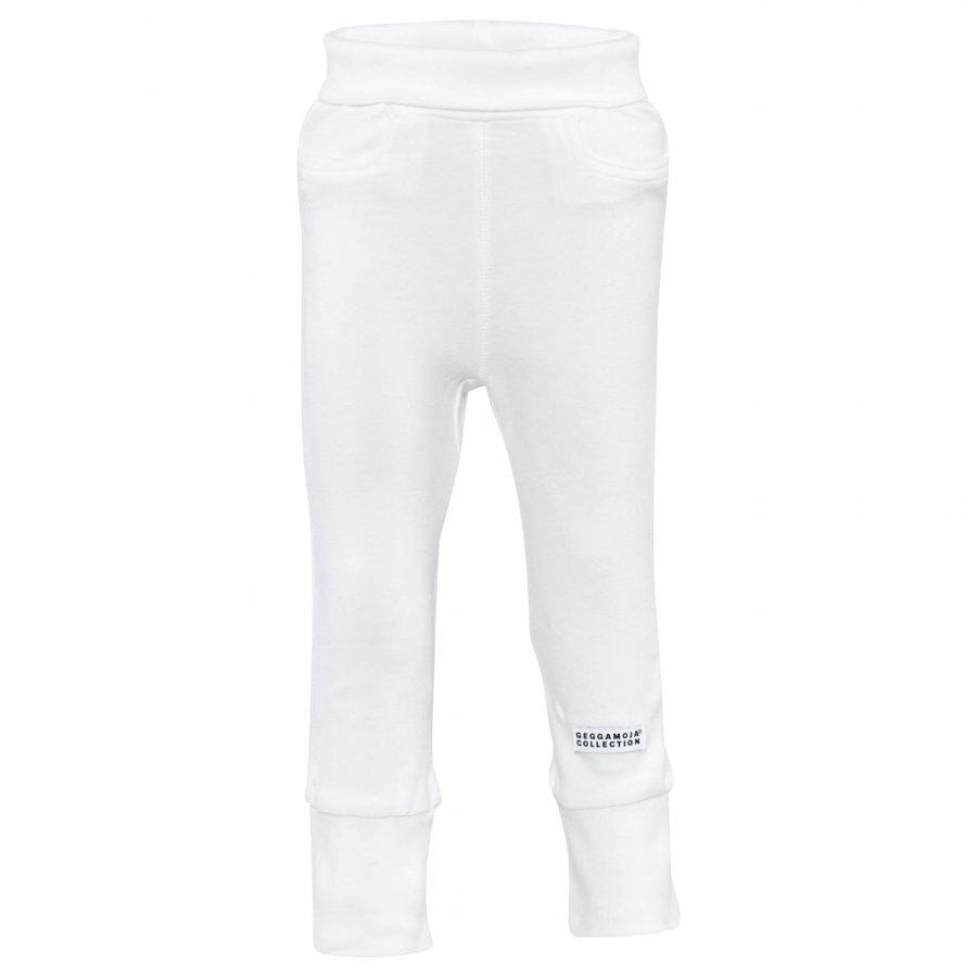 Geggamoja Baby Trousers Classic White Housut