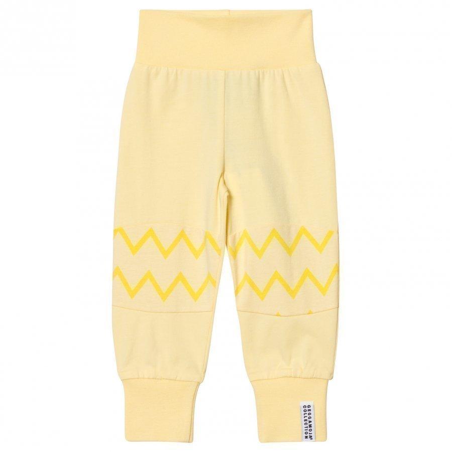 Geggamoja Babypant Yellow Zick Zack Housut