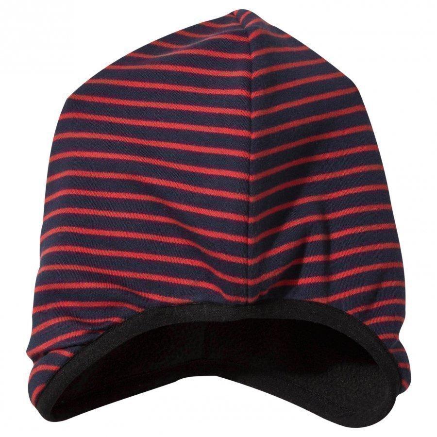 Geggamoja Beanie Navy/Red Pipo