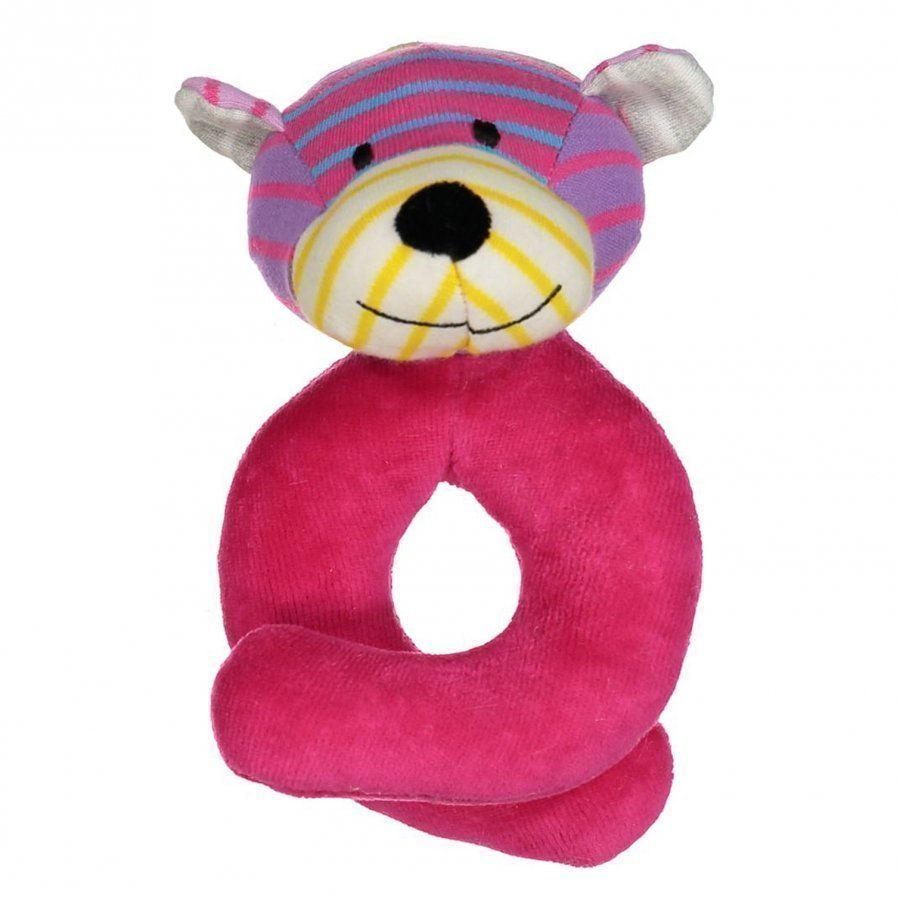 Geggamoja Bear Rattle Mixed Colors Pink Pehmolelu