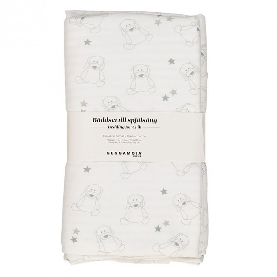 Geggamoja Bedding Crib Doddi White/Grey Vuodesetti