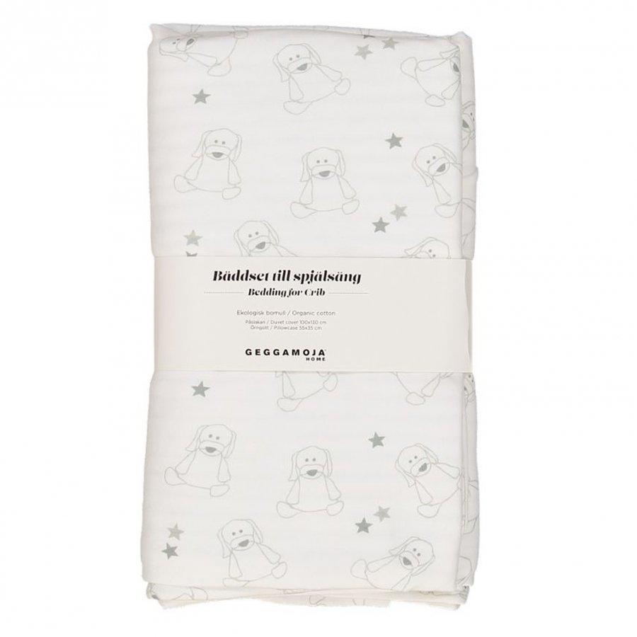 Geggamoja Bedding Crib Doddi White/Grey Vuodesetti