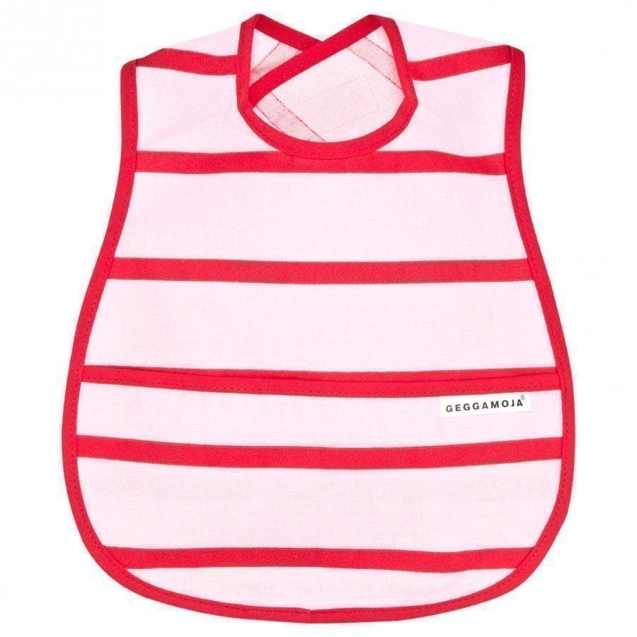 Geggamoja Bib Pink/Red Ruokalappu