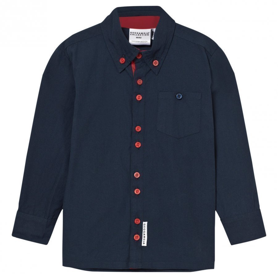 Geggamoja Christmas Shirt Blue Kauluspaita