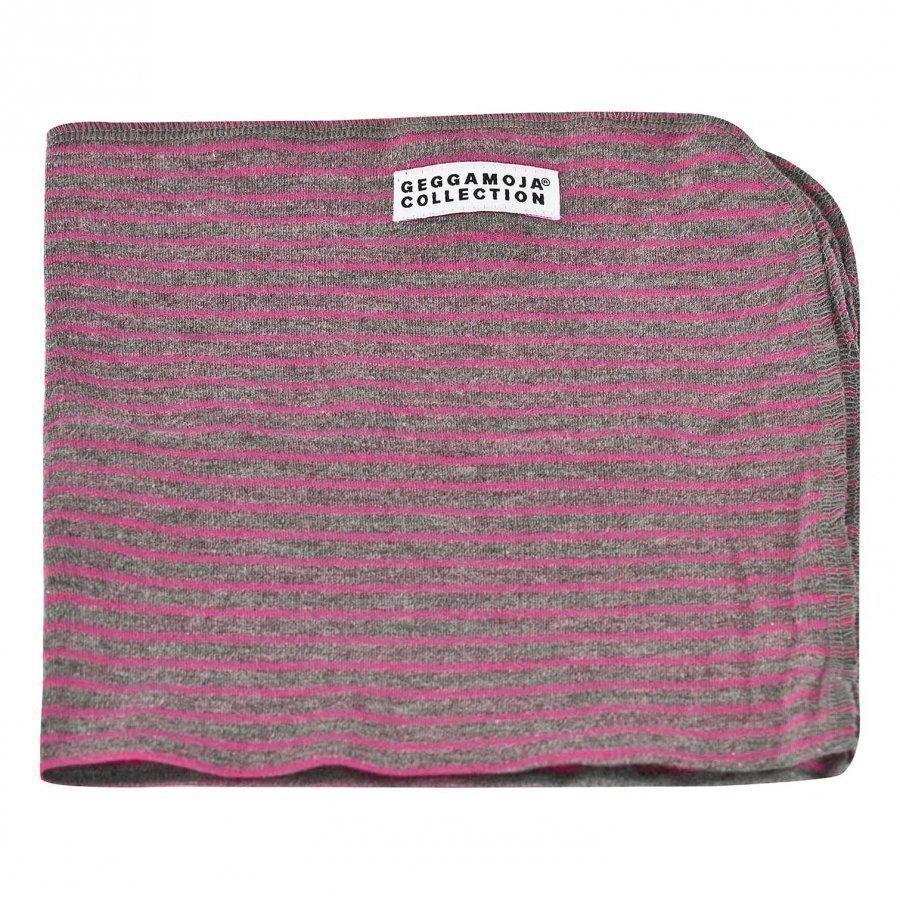 Geggamoja Classic Cuddly Blanket Harmaa/Pinkki Viltti