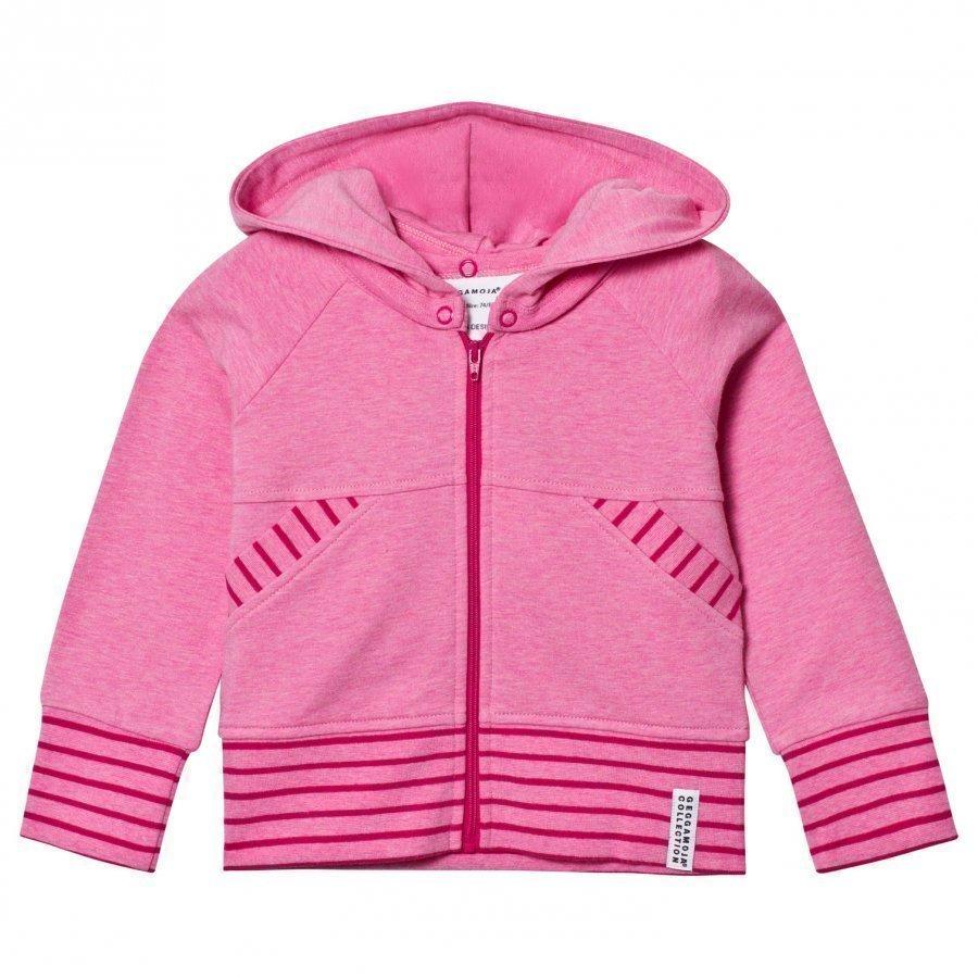 Geggamoja College Hoodie Pink Melange Huppari