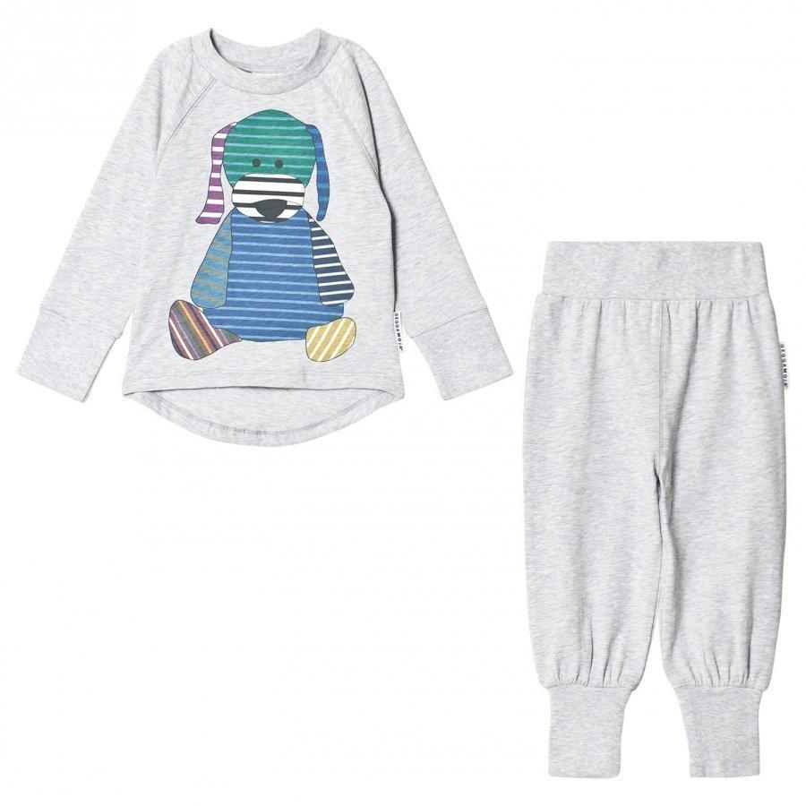 Geggamoja Doddi 2-Pcs Pyjamas L.Grey Mel Yöpuku