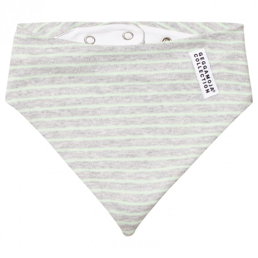 Geggamoja Dribble Scarf Light Grey Melange/Mint Ruokalappu