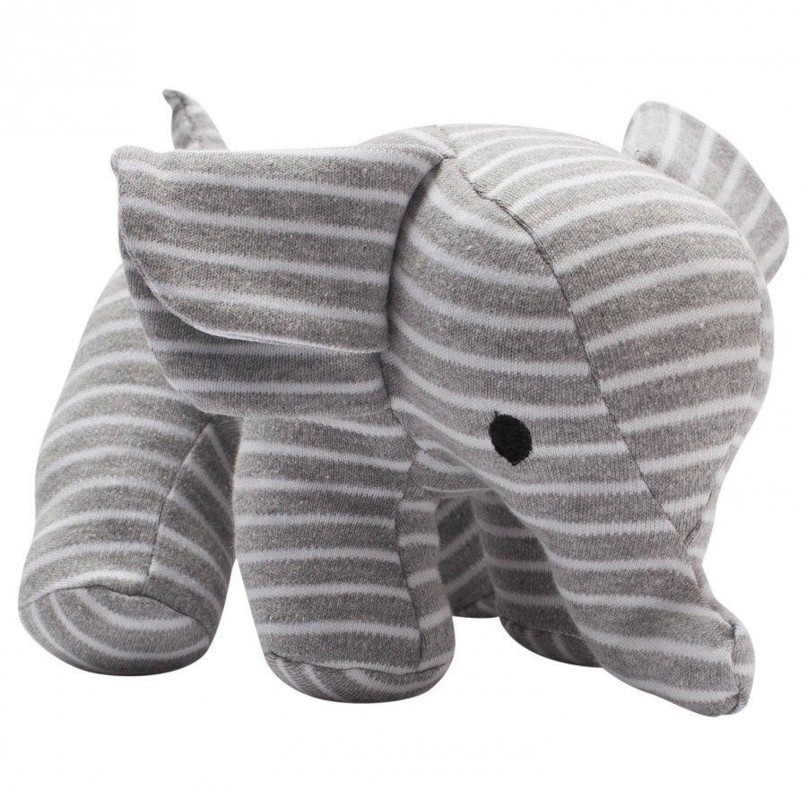 Geggamoja Elephant Grey/White Pehmolelu