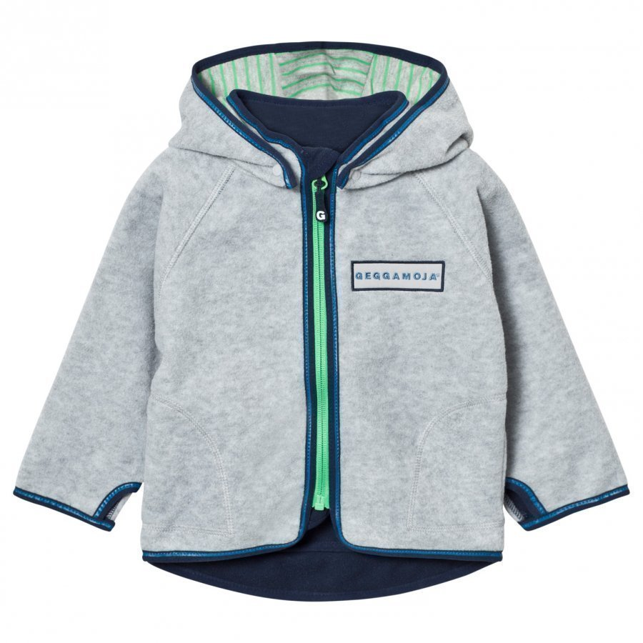 Geggamoja Fleece Jacket Grey Melange Fleece Takki