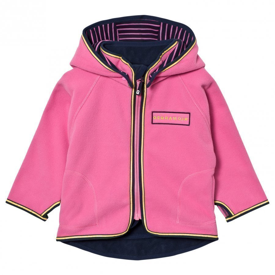 Geggamoja Fleece Jacket Pink Fleece Takki