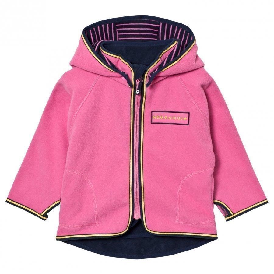 Geggamoja Fleece Jacket Pink Fleece Takki