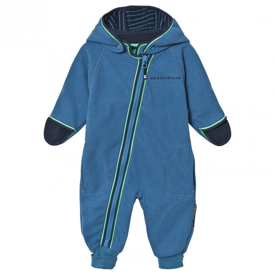 Geggamoja Fleece Overall Blue Fleece Haalarit