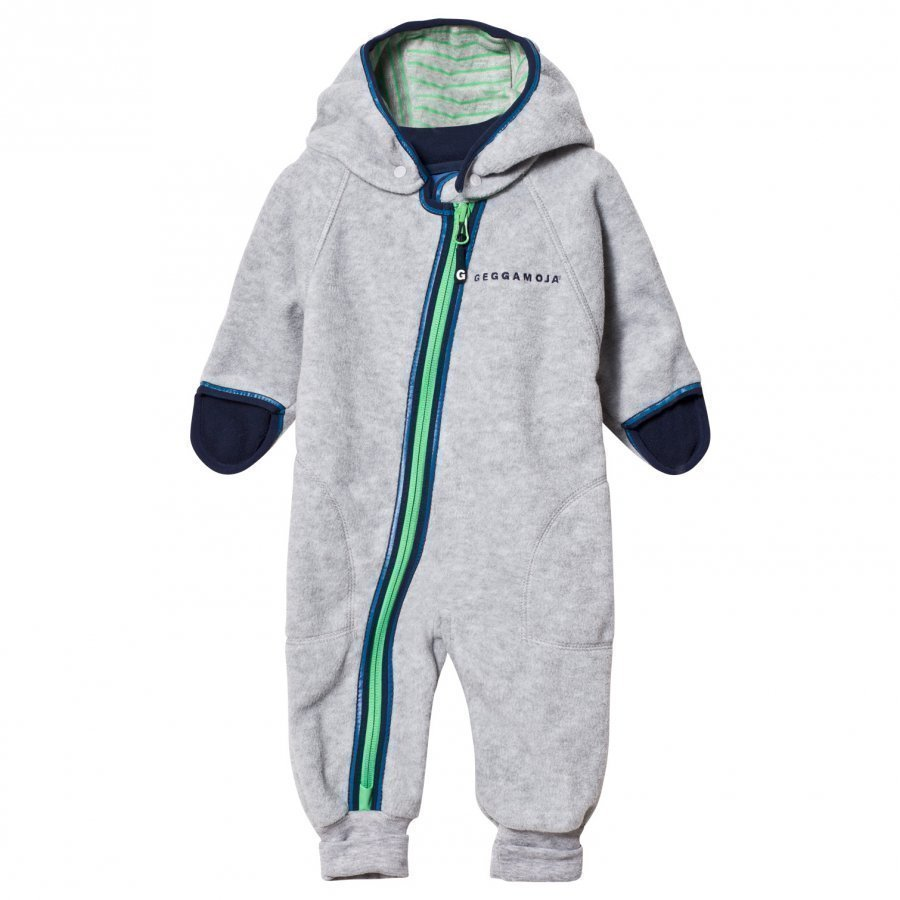Geggamoja Fleece Overall Grey Melange Fleece Haalarit