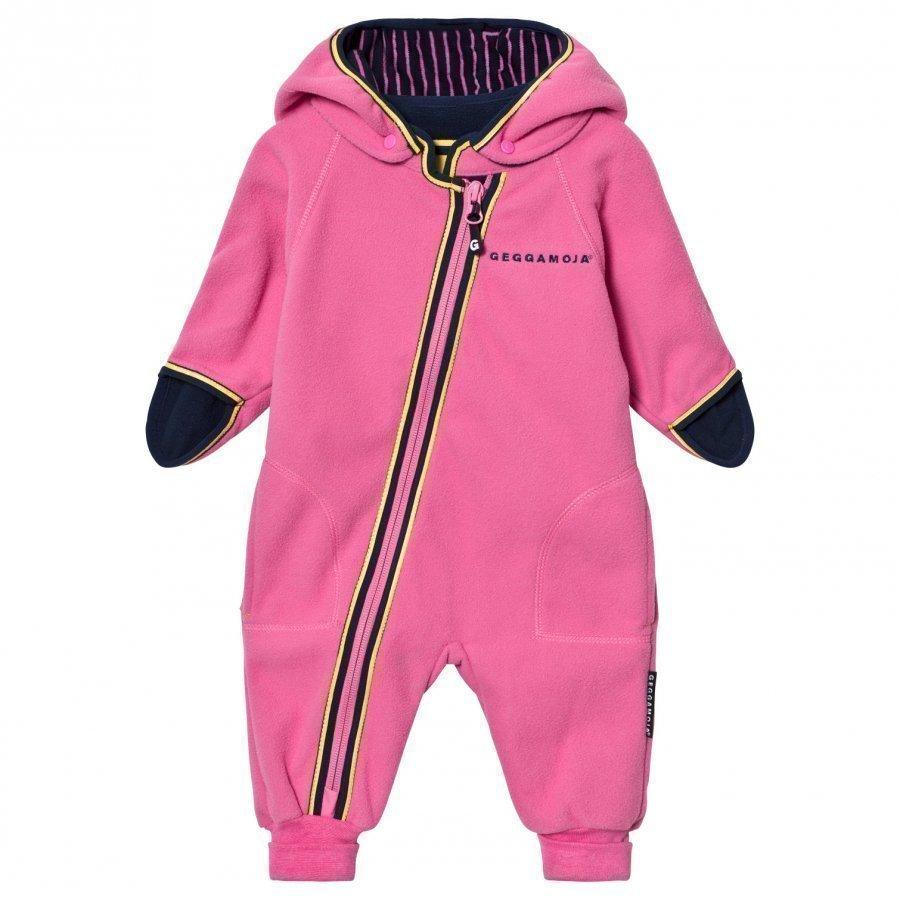 Geggamoja Fleece Overall Pink Fleece Haalarit