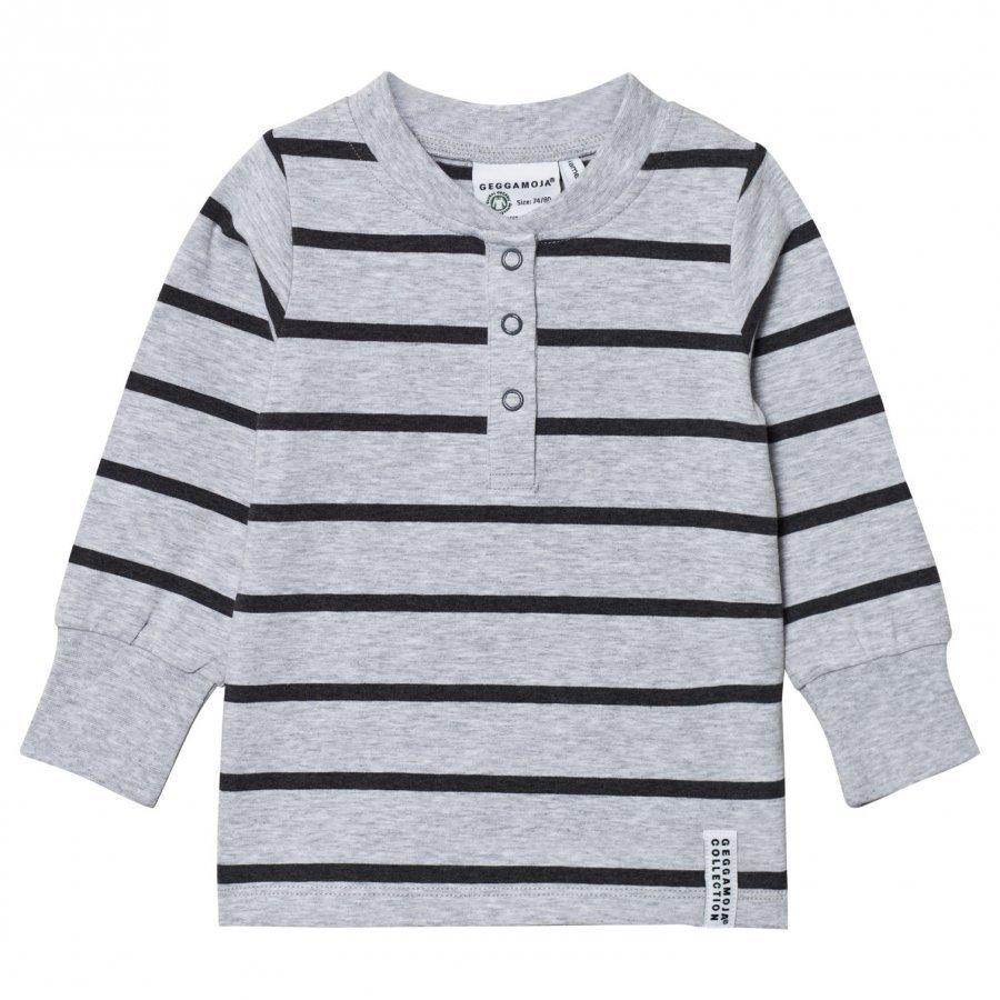 Geggamoja Grandpa Sweater Grey Melange And Dark Gray Pitkähihainen T-Paita