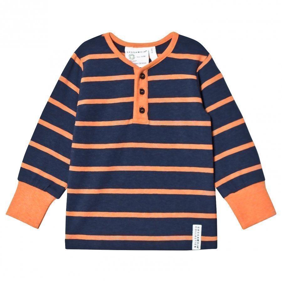 Geggamoja Grandpa Sweater Marine/Orange Pitkähihainen T-Paita