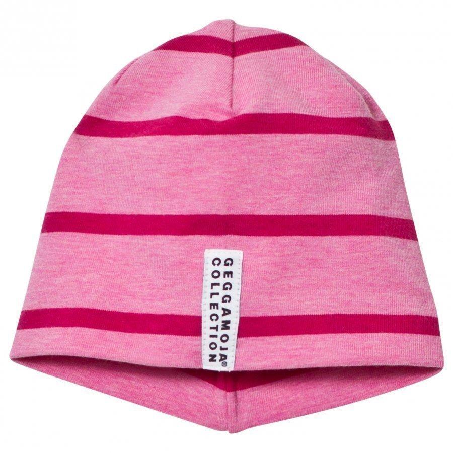 Geggamoja Hat Pink Melange And Dark Pink Pipo