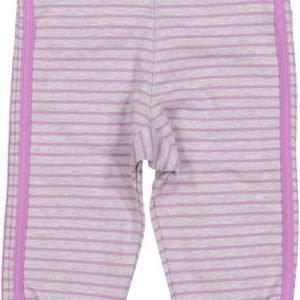 Geggamoja Housut Baby Pants Harmaameleerattu/Liila