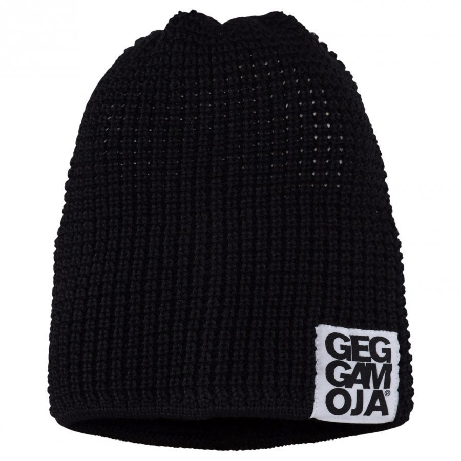 Geggamoja Knitted Beanie Black 47 0-2 Y Black Pipo