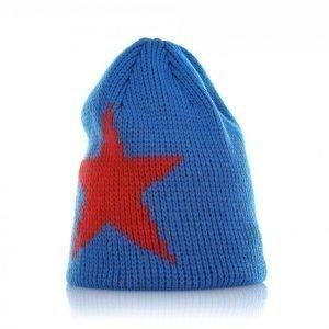 Geggamoja Knitted Star Cap Talvipipo Sininen