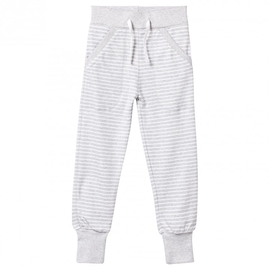 Geggamoja Long Pants Light Grey Mel/White Verryttelyhousut