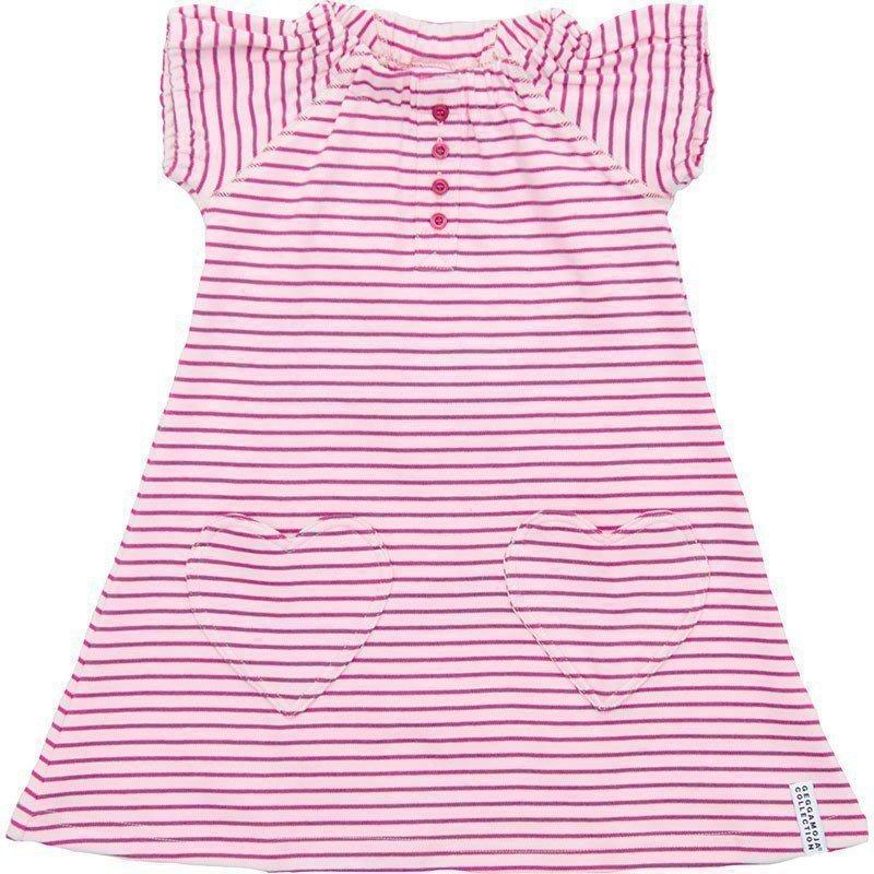 Geggamoja Mekko Raidallinen Pink/Cerise
