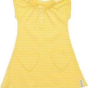 Geggamoja Mekko Raidallinen Yellow/White
