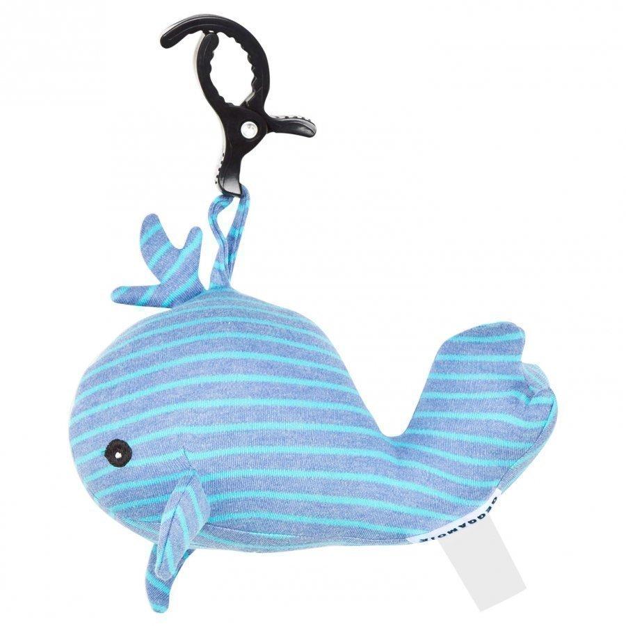 Geggamoja Music Whale Denim/Turquoise Mobile