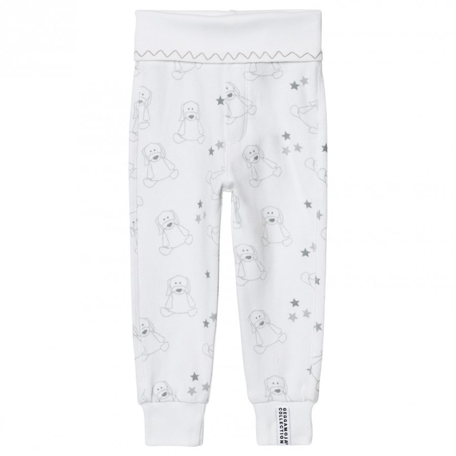 Geggamoja Organic Doddi Pants White/Grey Body