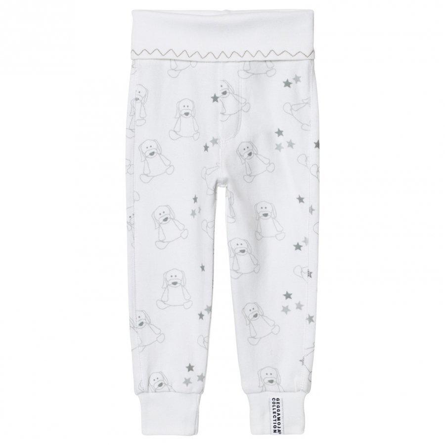 Geggamoja Organic Doddi Pants White/Grey Body