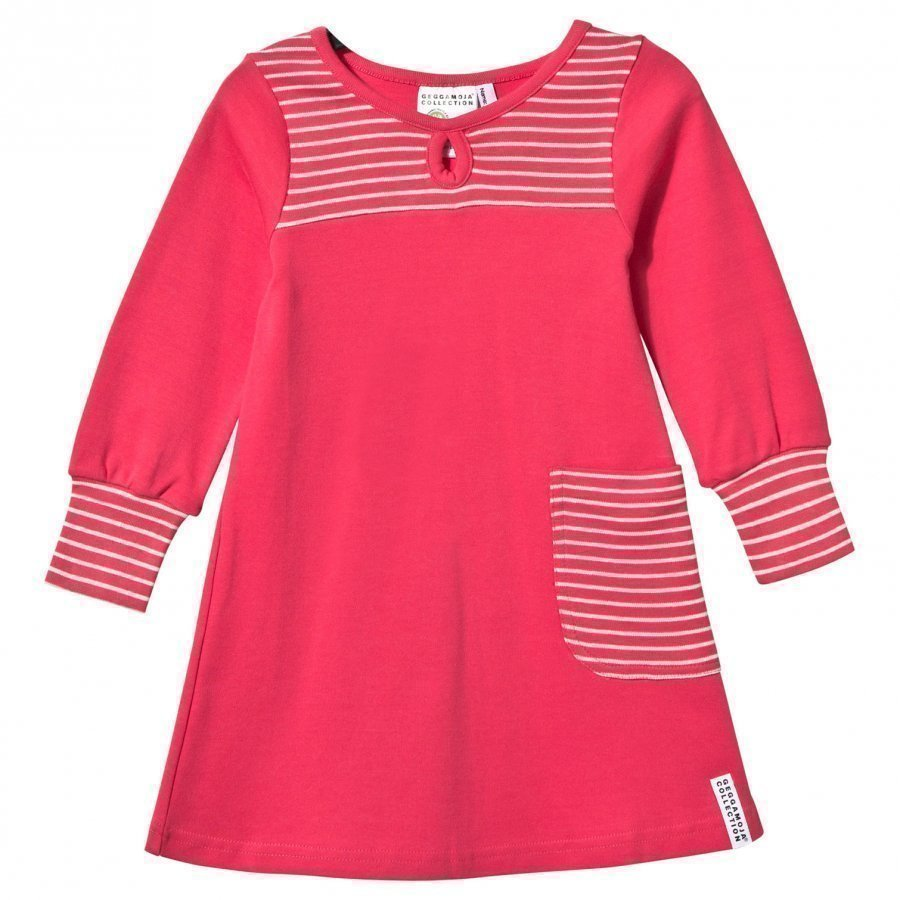 Geggamoja Pocket Dress Raspberry/Light Pink Mekko