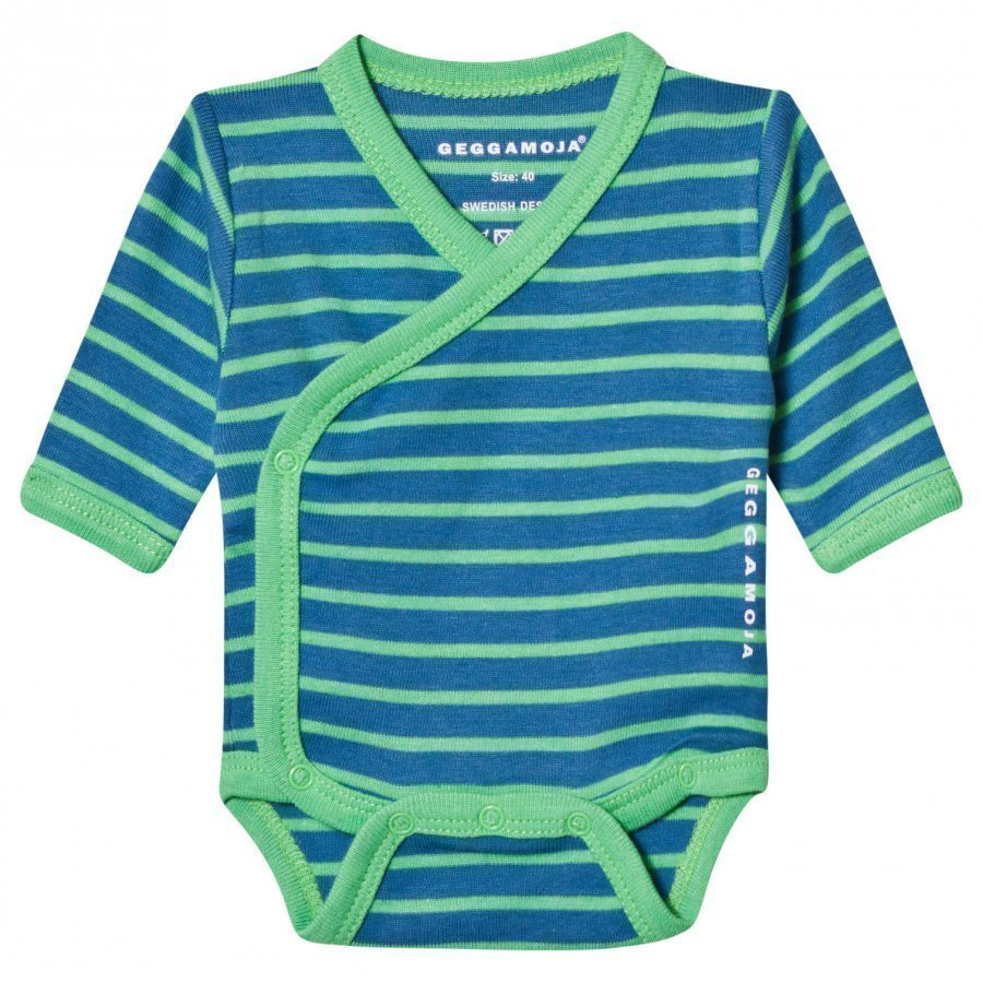 Geggamoja Premature Baby Body Marine And Green Body