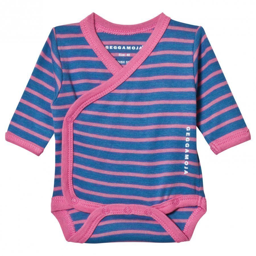 Geggamoja Premature Baby Body Marine And Pink Body