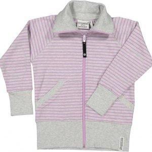 Geggamoja Pusero Zipsweater Harmaameleerattu/Liila