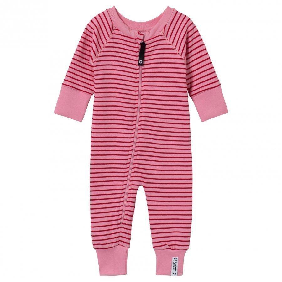 Geggamoja Pyjamas Classic Pink/Red Romper Puku