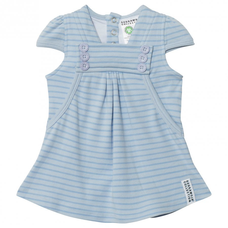 Geggamoja Summer Button Dress Soft Blue Mekko