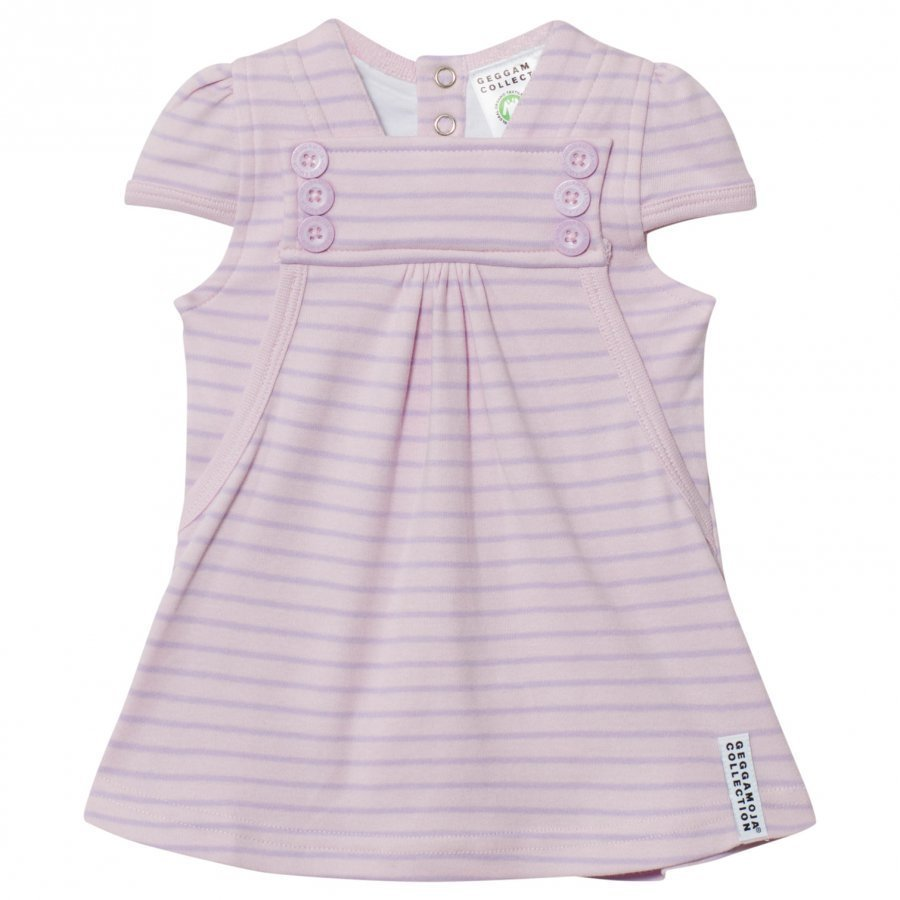 Geggamoja Summer Button Dress Soft Pink Lilac Mekko
