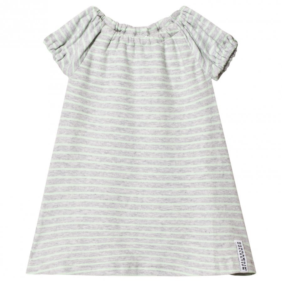 Geggamoja Summer Singoalla Dress Light Grey Melange/Mint Mekko