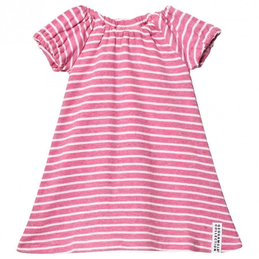 Geggamoja Summer Singoalla Dress Pink Melange/White Mekko