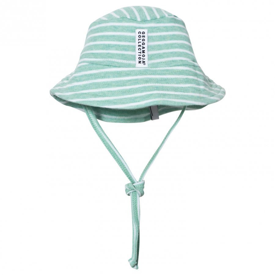Geggamoja Sunny Hat Green Melange White Aurinkohattu