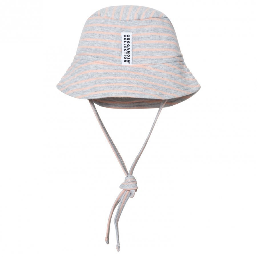 Geggamoja Sunny Hat Light Grey Melange Peach Aurinkohattu