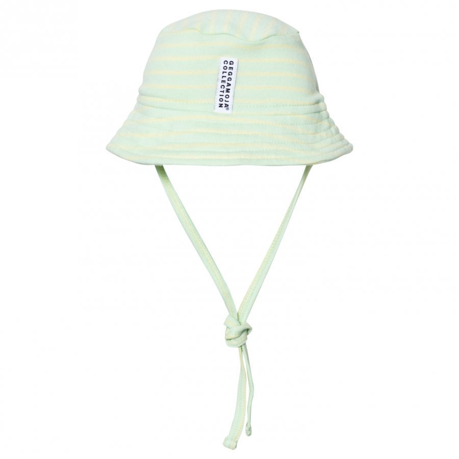 Geggamoja Sunny Hat Soft Green Yellow Aurinkohattu