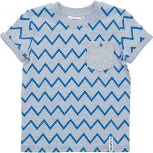 Geggamoja T-paita Zick Zack Grey/Blue