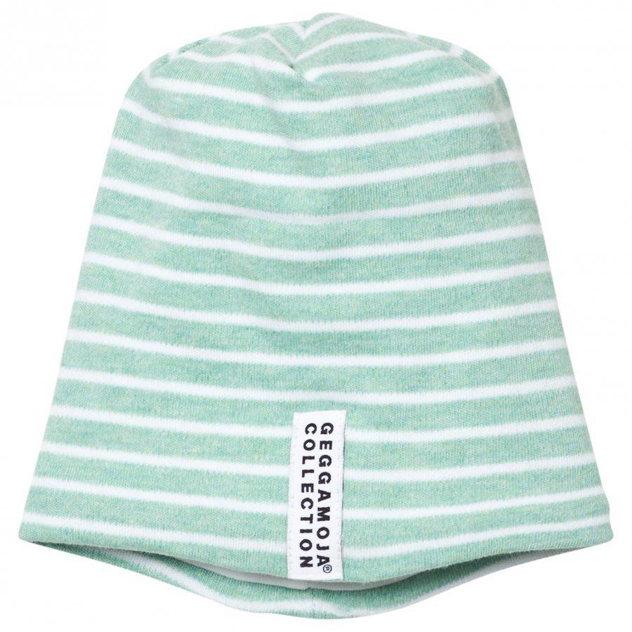 Geggamoja Topline Hat Green Melange/White Pipo